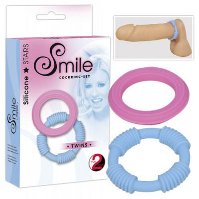 "SET 2 ANELLI FALLICI SWEET SMILE \""TWINS\"""