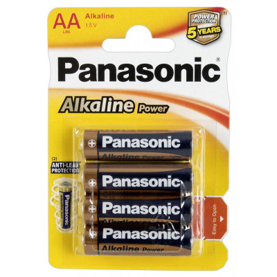 "BLISTER 4 BATTERIE PANASONIC STILO ""AA"""