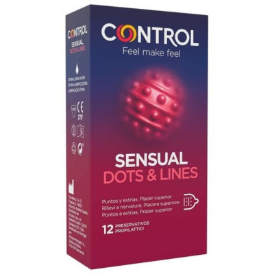 """PROFILATTICI CONTROL """"SENSUAL DOTS & LINES"""" - 12 PEZZI"""