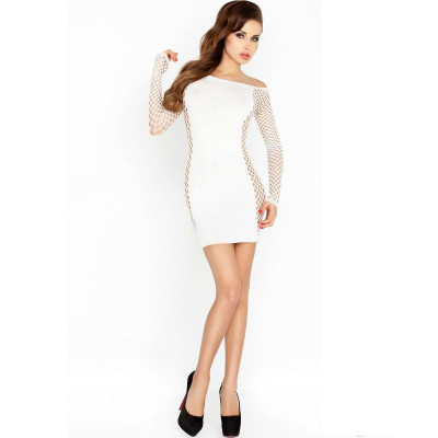 "BODYSTOCKING DRESS STYLE PASSION WOMAN ""BS025"" BIANCO - TAGLIA UNICA"