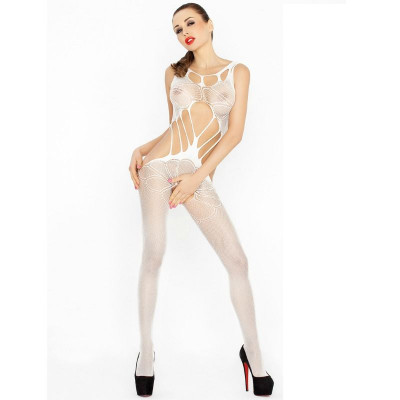 "BODYSTOCKING PASSION WOMAN ""BS030"" BIANCO - TAGLIA UNICA"