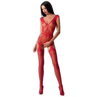 "BODYSTOCKING PASSION WOMAN ""BS062"" ROSSO - TAGLIA UNICA"